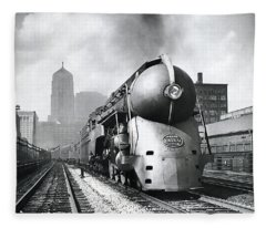 20th Century Limited Streamlined Train  1939 Fleece Blanket