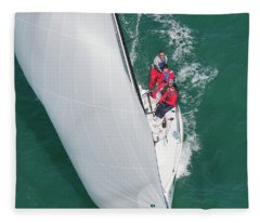 Aerial Key West Fleece Blanket