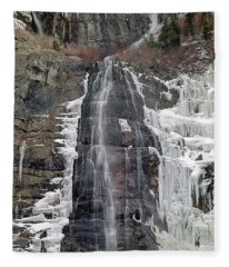 212m40 Bridal Veil Falls Utah Fleece Blanket