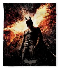 The Dark Knight Rises 2012  Fleece Blanket