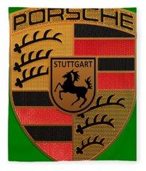 Porsche Label Fleece Blanket