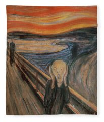 The Scream Fleece Blanket