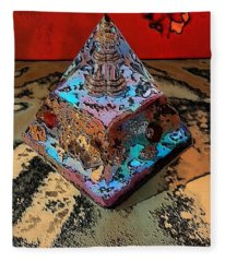 Abstract Orgone Fleece Blanket