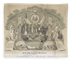 25-year Reign Of William IIi King Of The Netherlands, In 1874, Anonymous, After Hendrik Jan Van Lumm Fleece Blanket