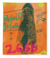 2666 Roberto Bolano  Poster  Fleece Blanket
