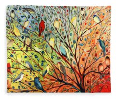 27 Birds Fleece Blanket