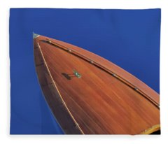 The Color Of The Sky On A Clear Day Fleece Blanket