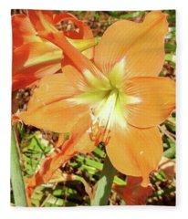 Autumn Lillies Fleece Blanket