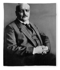 Alois Alzheimer, German Neuropathologist Fleece Blanket