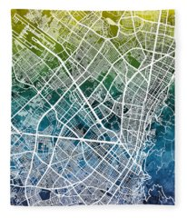 Bogota Colombia City Map Fleece Blanket