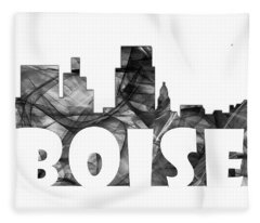 Boise Idaho Skyline Fleece Blanket