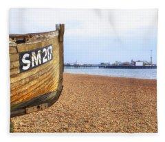 Brighton Pier Fleece Blanket