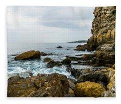 Coastline Of The Bay Fleece Blanket