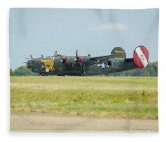 Consolidated B-24j Liberator Fleece Blanket