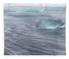 Fleece Blanket featuring the photograph Diamonds Floating In Beaches, Iceland by Pradeep Raja PRINTS