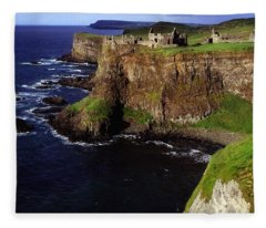 Dunluce Castle, Co. Antrim, Ireland Fleece Blanket