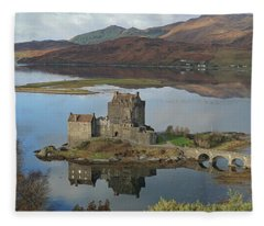 Eilean Donan Castle - Panorama Fleece Blanket
