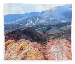 Etna - Sicily Fleece Blanket
