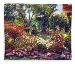 Evening Roses Fleece Blanket