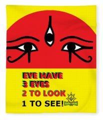 3 Eyes Fleece Blanket