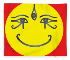 3 Eyes Smiling  Fleece Blanket