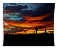Fire Sky  Fleece Blanket