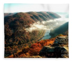 Grandview New River Gorge Fleece Blanket
