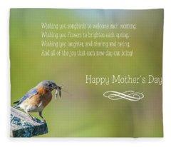 Happy Mothers Day Fleece Blanket