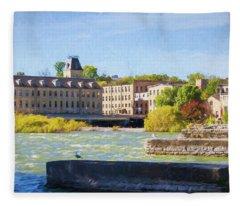 Historic Fox River Mills Fleece Blanket