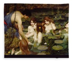 Hylas And The Nymphs Fleece Blanket