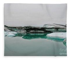 Icebergs In Iceland Fleece Blanket