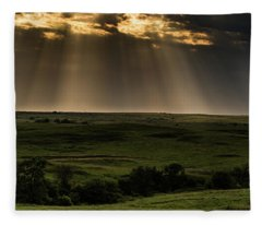 Kansas Sunset Fleece Blanket
