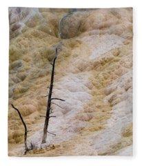 Mammoth Hot Spring Terraces Fleece Blanket