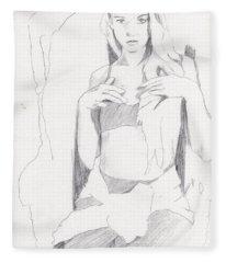 Missy - Sketch Fleece Blanket