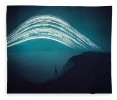 3 Month Exposure At Beachy Head Lighthouse Fleece Blanket