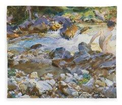Mountain Stream Fleece Blanket
