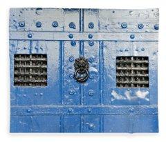 Old Blue Door Fleece Blanket