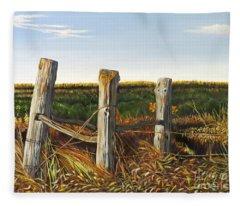 3 Old Posts Fleece Blanket