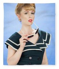 Pin Up Style Fleece Blanket