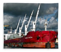 Port Of Amsterdam Fleece Blanket