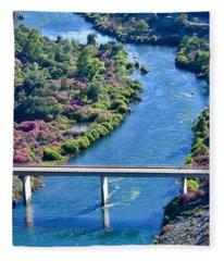 Shasta Dam Spillway Fleece Blanket