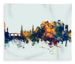 Stirling Scotland Skyline Fleece Blanket