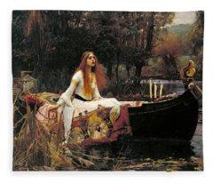 The Lady Of Shalott Fleece Blanket