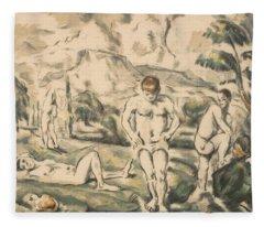 The Large Bathers -- Fleece Blanket