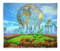 The Unisphere Fleece Blanket