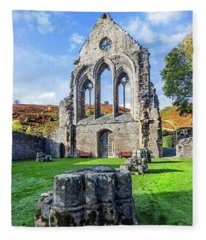 Valle Crucis Abbey Fleece Blanket