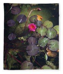 Water Lily  Fleece Blanket