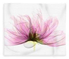 X-ray Of Peony Flower Fleece Blanket