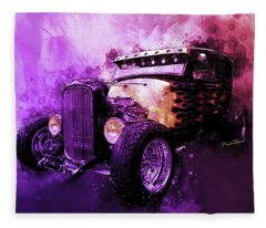 31 Ford Model A Fiery Hot Rod Classic Fleece Blanket