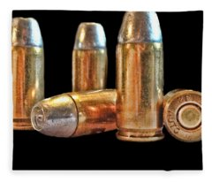 32 Caliber Bullet Print Fleece Blanket